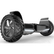 "All-terrain Hoverboard 8.5"" Big Wheel Off Road Tires UL 2272 Certified Electric Smart Self Balancing Scooter with Bluetooth Speakers, LED lights - Black"