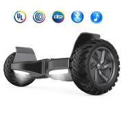 "All-terrain Tires Hoverboard 8.5"" UL 2272 Certified Electric Smart Self Balancing Scooter with Bluetooth Speakers, LED lights - Black"