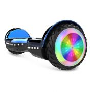 """Mini Hoverboard LED Lights 6.5"""" Bluetooth Speaker Self Balancing Scooter for Kids with UL2272 Certified - Blue"""