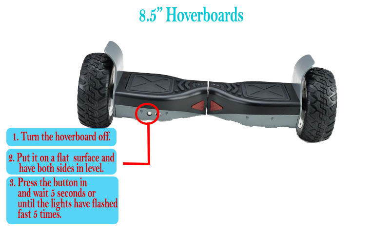 "Recalibrate 8.5"" Hoverboard and Get it to Stop Beeping"