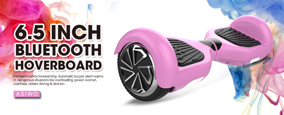 6.5 Inch Pink Hoverboard Electric Smart Balance Board with Bluetooth Speaker - UL2272 Certified