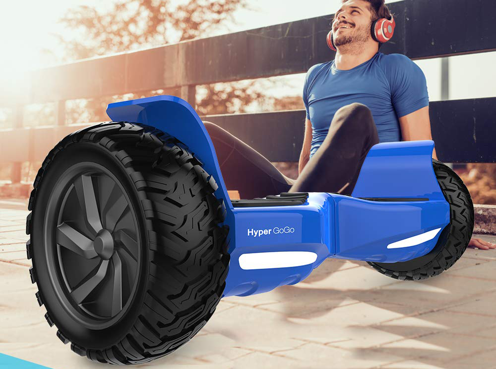 """Blue Adult Hoverboard Self Balancing Scooter 8.5"""" Off Road Hoverboards that Play Music"""