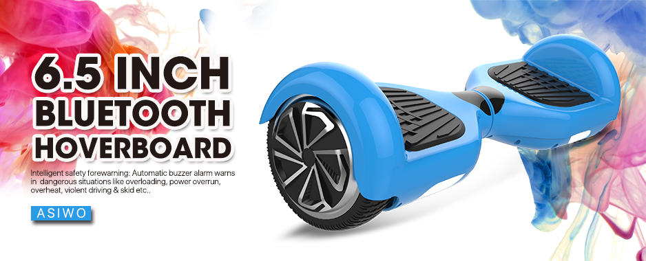 Mini Hoverboard Bluetooth Speaker Self Balancing Scooter for Kids with UL2272 Certified - Blue