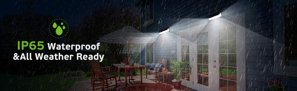 54LED Outdoor Solar Lights with IP65 Waterproof - All Weather Ready