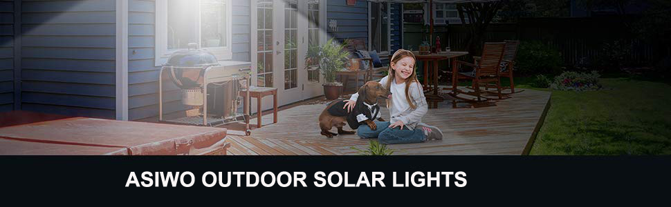 Asiwo Outdoor Solar Lights
