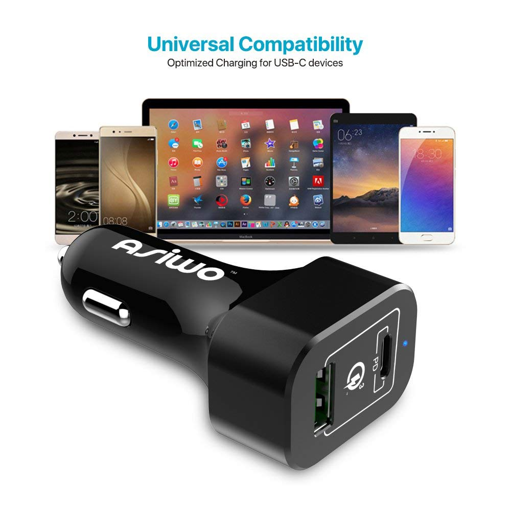 USB Type-C Quick Charge 3.0 Car Charger - Universal Compatibility