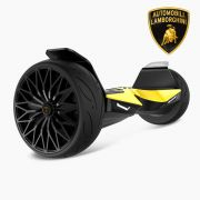 "Hoverboard Lamborghini Edition Electric Scooter 8.5"" Lambo Hoverboard Bluetooth & App UL Certified - Yellow"