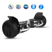 "Hoverboard Off Road Wheels UL2272 Certified 6.5"" Bluetooth Cool Smart Electric Self Balancing Scooter for Kids and Adult - Camouflage Gray"