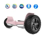 "Off Road Tries Hoverboard 8.5"" Wheels Electric Self Balancing Scooter with Bluetooth Speakers, LED lights - Rose Gold"