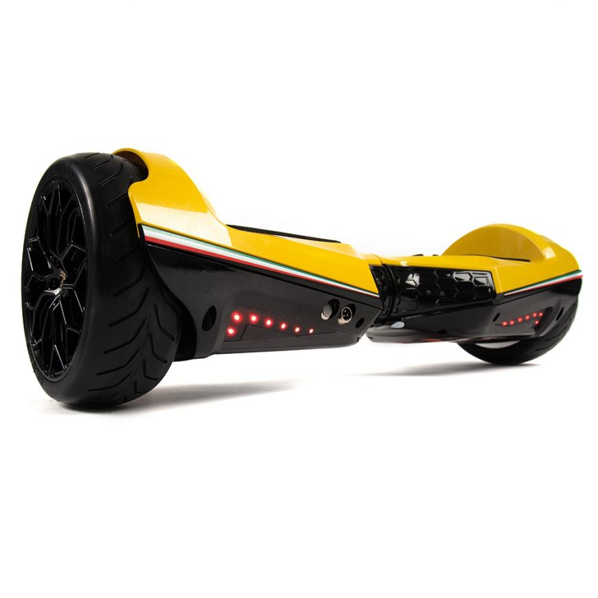 Lambo Hoverboard Bluetooth Yellow 6 5 Inch Lamborghini Hoverboard With Lights App Two Wheel Lithium Ion Batteries Self Balancing Scooter Asiwo Com