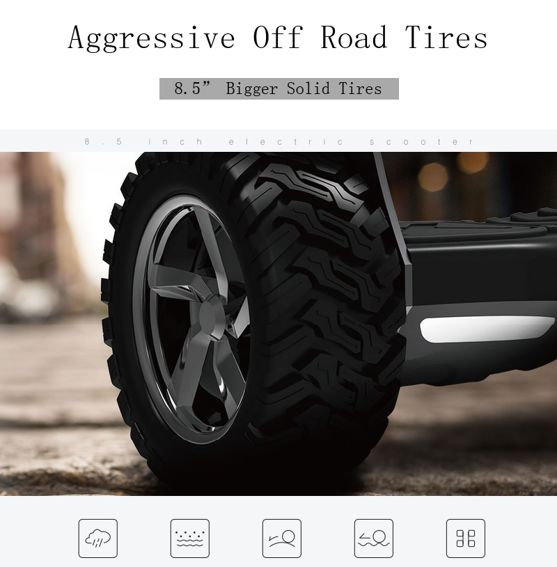 Hoverboard Reviews - Aggressive Off Road Tires