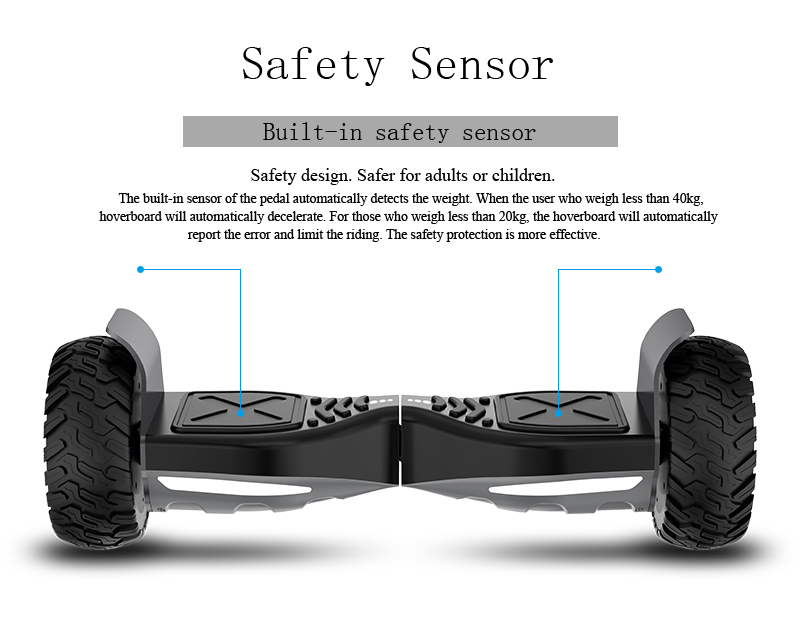 All Terrain Hoverboard - Safety Sensor