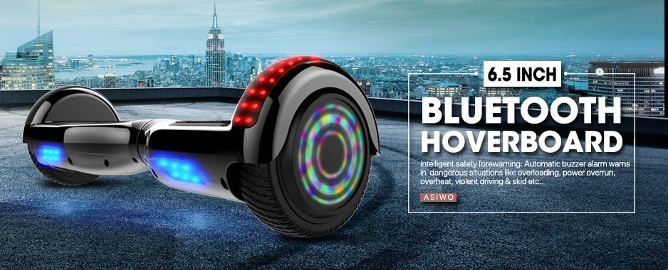 6.5 Inch Black Hoverboard with Lights