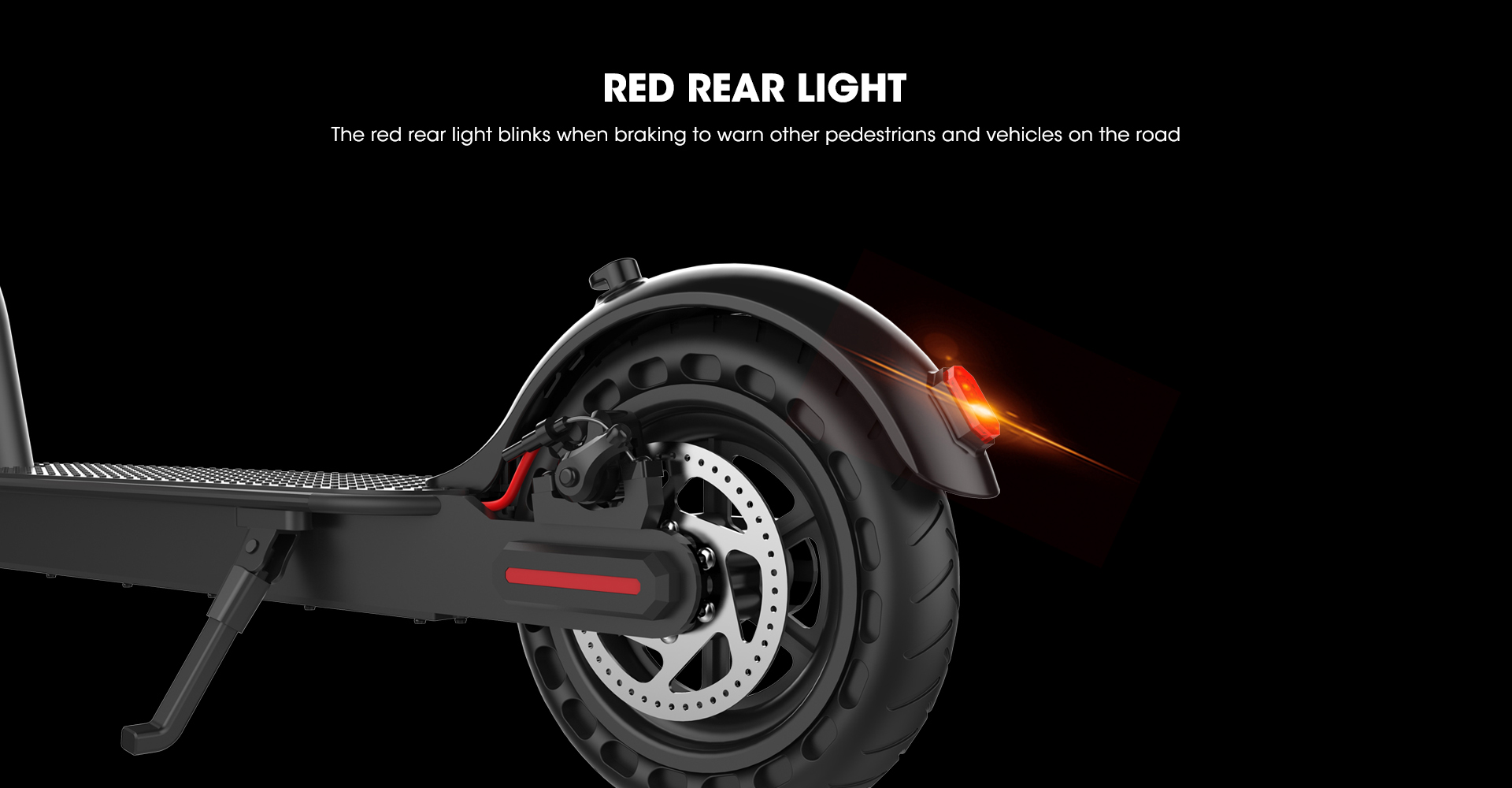 foldable-electric-scooter-red-rear-light