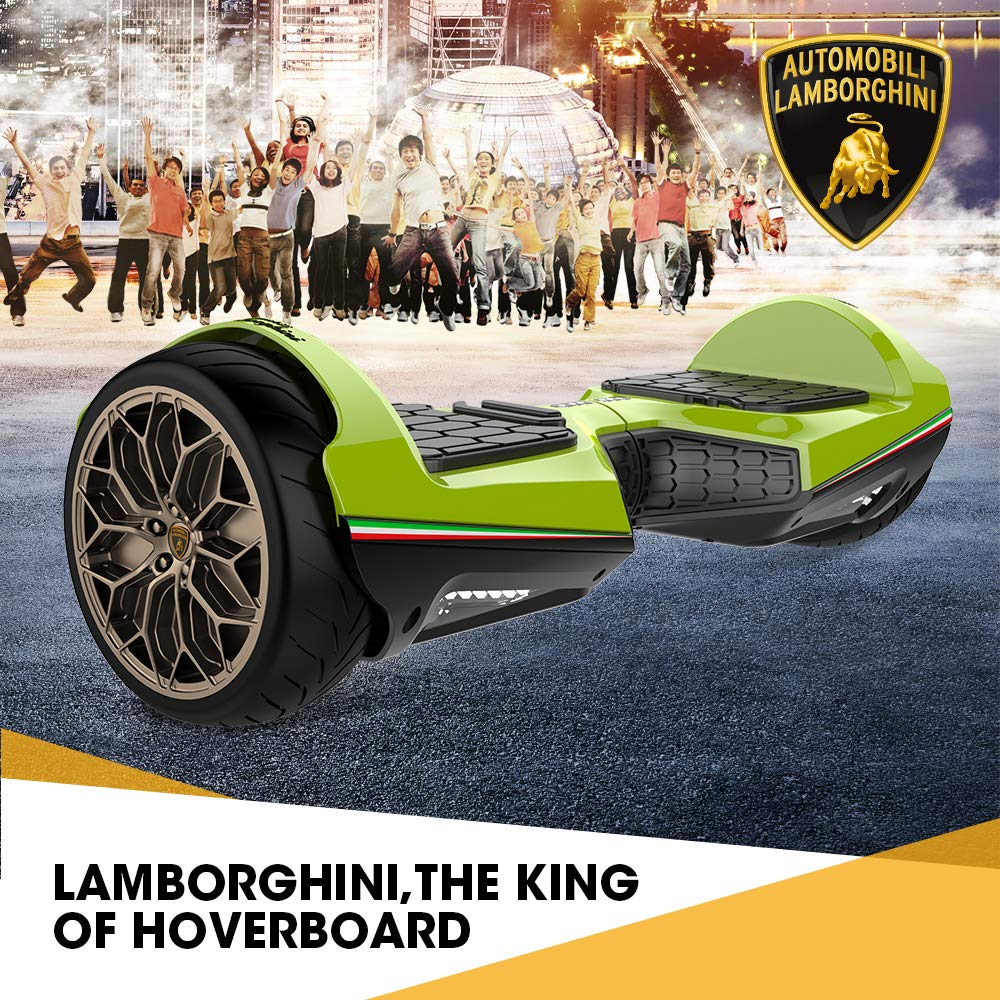 Green Lamborghini Hoverboard 6 5 With Bluetooth App Self