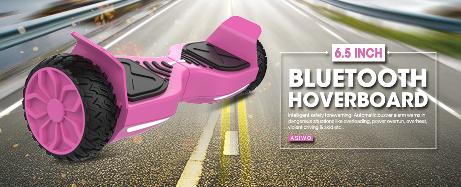 Hot Pink Bluetooth Hoverboard