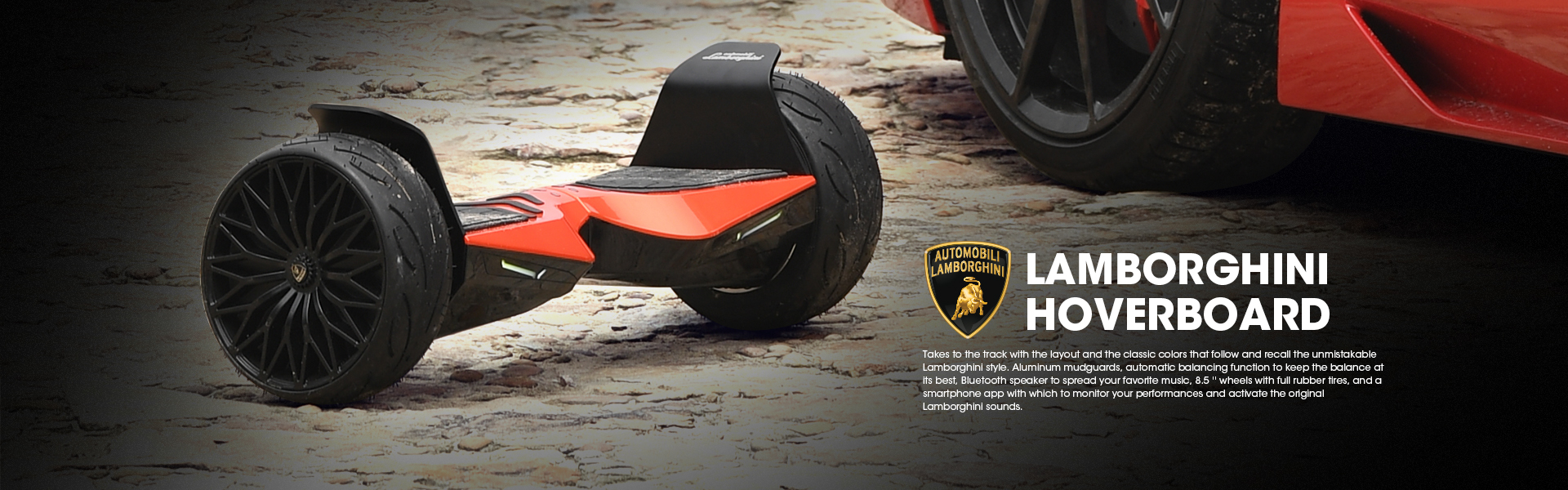 Red Lamborghini Hoverboard 8.5 inch Offical Automobili Lamborghini Authorized Bluetooth Hoverboard
