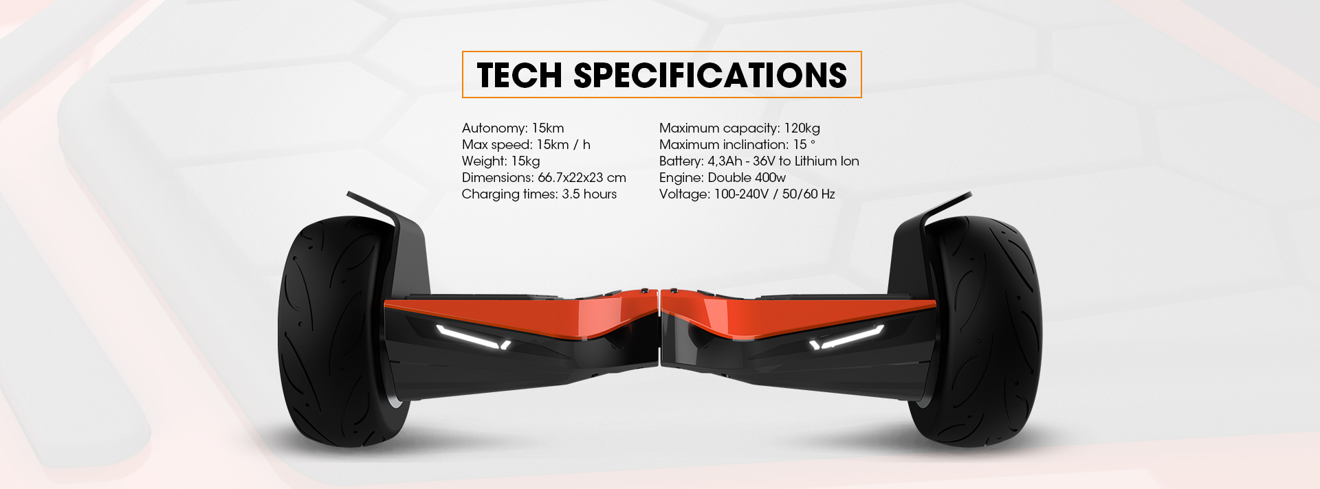 Red Lamborghini Hoverboard 8.5 inch Offical Automobili Lamborghini Authorized Hoverboard - Specifications