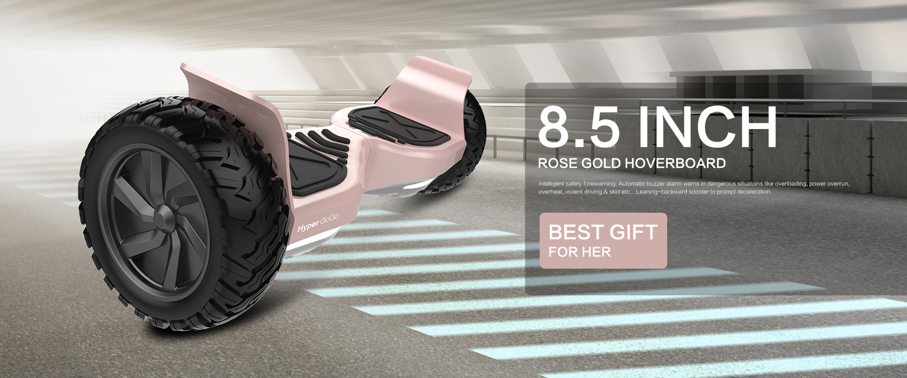 Rose Gold Off Road Tries Hoverboard 8 5 Quot Wheels Electric Self Balancing Scooter With Bluetooth