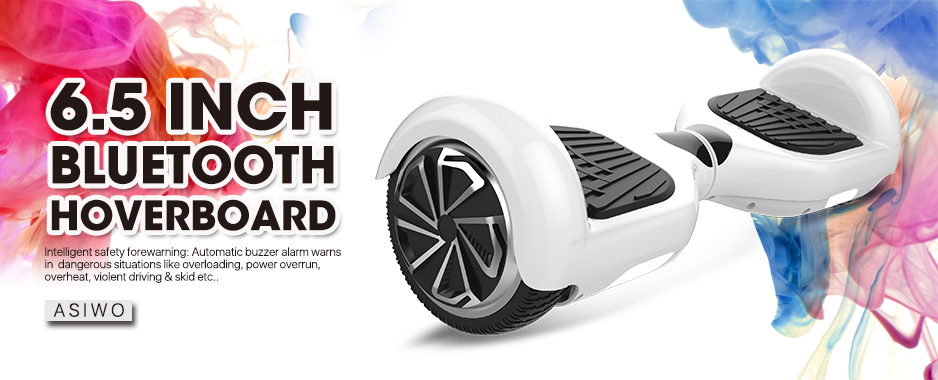 UL2272 Certified White Hoverboard Two Wheel Self Balancing Electric Scooter with Bluetooth Speaker